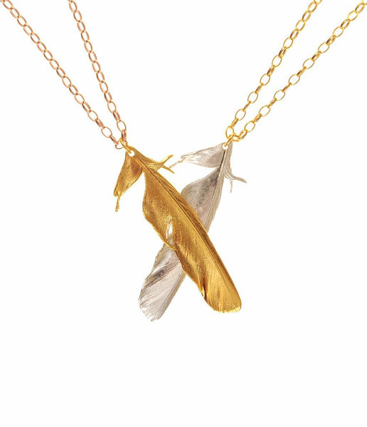 The Magpie Tail Feather Necklace