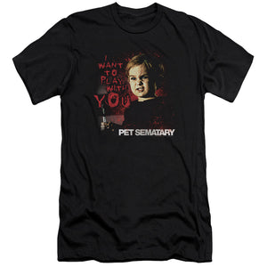 Pet Sematary - I Want To Play Premium Canvas Adult Slim Fit 30/1 - Dubbs Alpha League