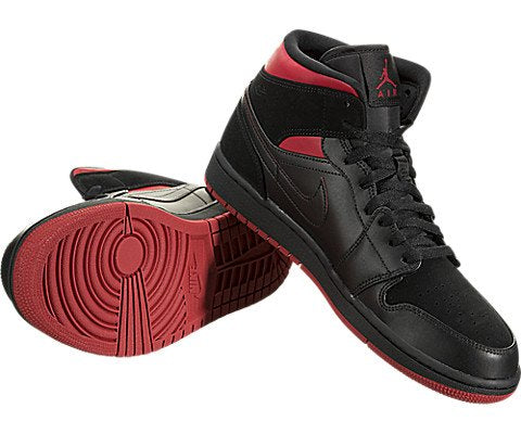 brand new c8102 6b163 ... Jordan Air 1 Mid Basketball Shoe Black Tour Yellow Gym Red Size 10.5 ...