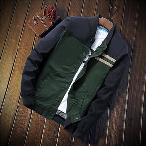 Slim Casual Jackets Male Outerwear - Dubbs Alpha League