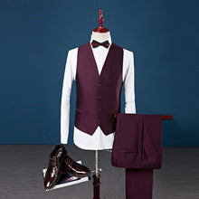 Slim Fit Burgundy Suit MensTuxedo Jacket - Dubbs Alpha League