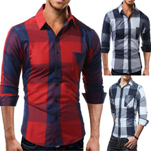 Men Casual Full Sleeve Plaid Cotton Shirts - Dubbs Alpha League