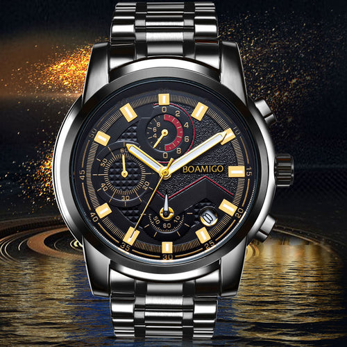 Full Steel Man Dress Fashion Quartz Watch