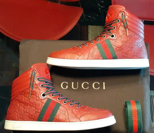 Authentic Gucci sneakers mens red