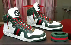 Authentic Gucci sneakers mens green white - Dubbs Alpha League