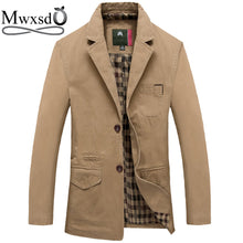 Mwxsd brand men casual cotton Blazer for Autumn winter men's cotton suit Jacket male slim fit jaqueta blazer masculino - Dubbs Alpha League