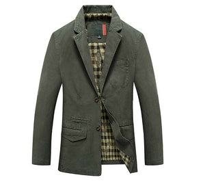 Mwxsd brand men casual cotton Blazer for Autumn winter men's cotton suit Jacket male slim fit jaqueta blazer masculino