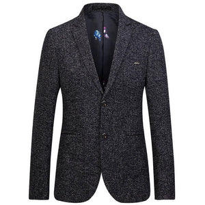 TANGNEST 2018 New Arrival Autumn Casual Slim Single Breasted Men Blazer Business Blazer Masculino Plus Asian Size 4XL MWX376
