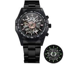Automatic Mechanical Gold Skeleton watch - Dubbs Alpha League