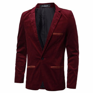 High Street Casual Mens Blazers Slim Fit Suit Jacket Male Blazers Coat Plus M-3XL Men's Clothing Masculina Terno Outwear Luxury - Dubbs Alpha League