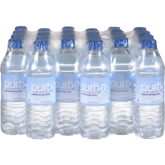 Purh20 Natural Spring Water 16.9fl oz/24 Bottles