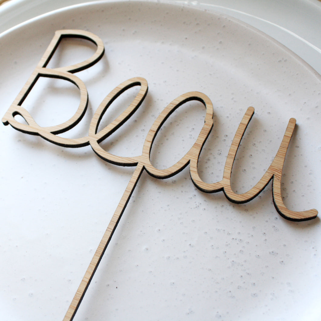 Personalised Cake Topper - Style 1