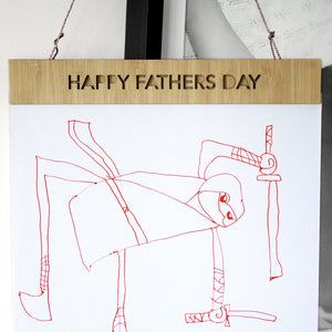 Fathers Day Artwork Hanger