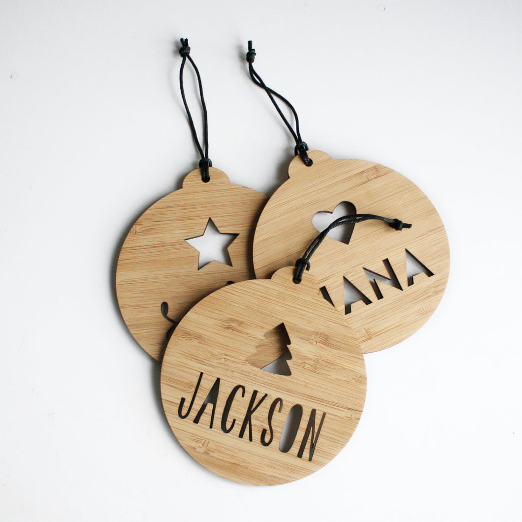 Personalised Christmas Bauble with Tree
