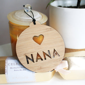 Personalised Christmas Bauble with Heart
