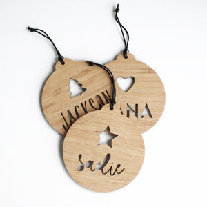 Personalised Christmas Bauble with Star