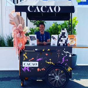 Premium Coffee Food Merchandising Cart