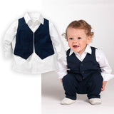 Styled Mybabytoddler - Gentlemen Formal Toddler Boys Shirt+Pants+Waistcoat 3pc Suit