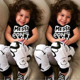 Messy Rebel - Toddler Baby Girls Boys Outfit 2PCS Set