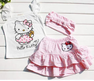 Hello Kitty 3Pcs Set with Headband+Dress+Pants - Toddler Girl