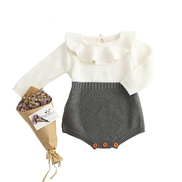 Classy Baby - Autumn Spring Baby Girl Knit Romper