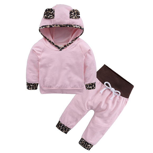 Adorable Hoodie - Spring/Winter Toddler Baby Girls Hoodies+Pants 2pcs