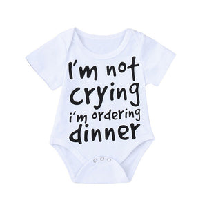I'm Hungry - Baby Boy Girl Short Sleeve Jumpsuit