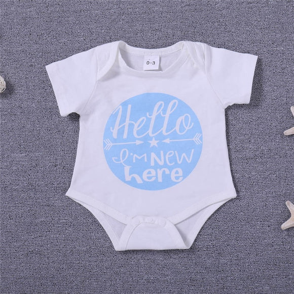 Newbie - Baby Boy Girl Romper Newborn Short Sleeve Jumpsuit Romper
