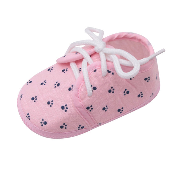 Paw Stamp - Baby Girls Boys Crib Shoes