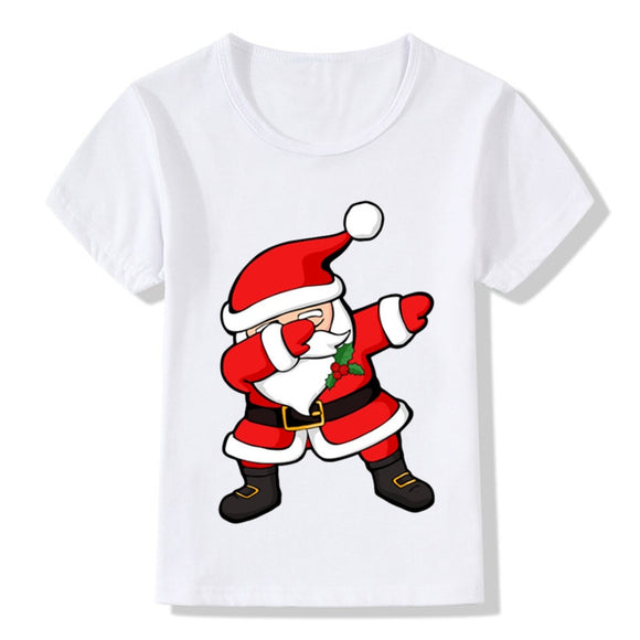 Dabbing Santa - Toddler Boy Girl Christmas Shirt