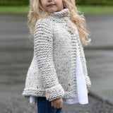 My Classy Toddler - Girls Outfit Button Knitted Cardigan