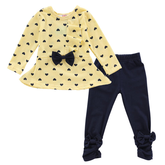 My Polkadot - Toddler Baby Girl Tshirt+Pants
