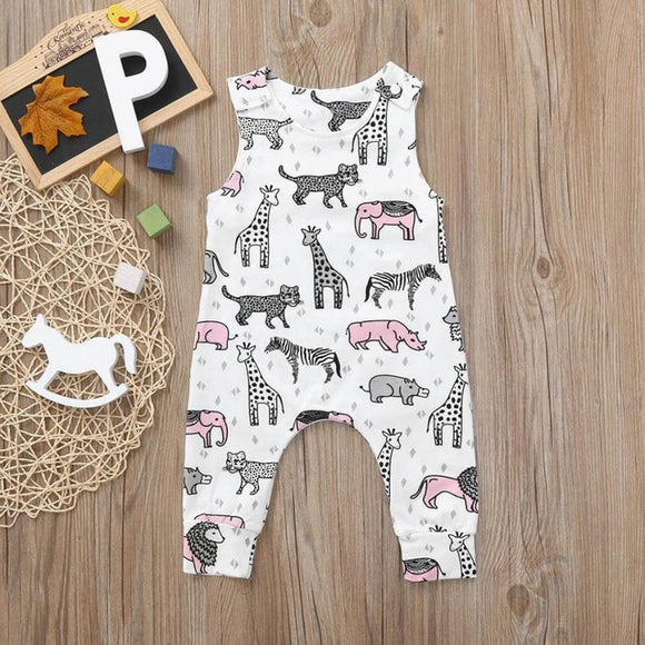 Safari Jumpsuit - Baby Toddler Boys Girls Cartoon