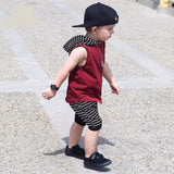 The Charmer - Toddler Baby Boy Summer Hooded Vest Tops+Shorts Pants 2pcs
