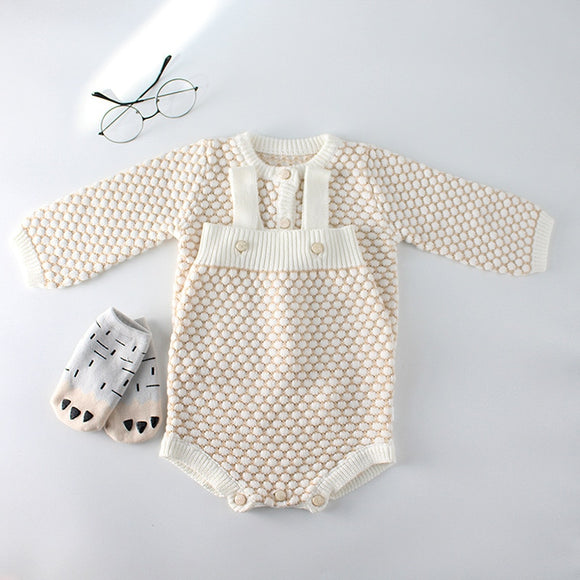My Precious - New Knitted Baby Girl Romper