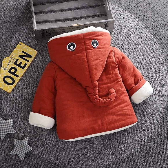 Googley Eyes - Thick Toddler Baby Boy Girl Winter Jacket Cartoon Hooded