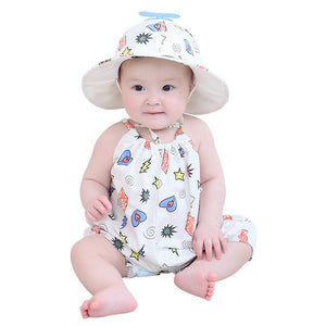 Cartoon Baby - Boy Girl Romper with Hat