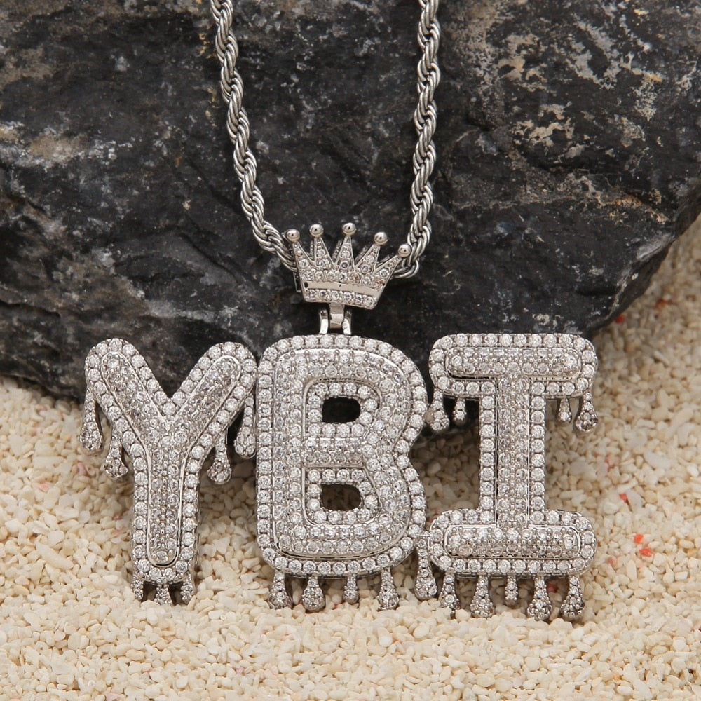 13b72c39bd224 Iced Out Custom Name Necklace with Crown – theGldKingz