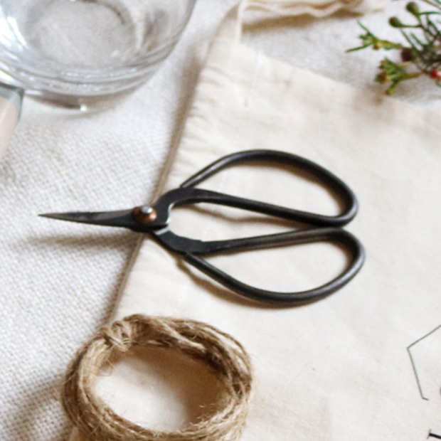 Wrought Iron Botanical Scissors