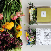 'Pick Me Up' Illustrated Sleeved Botanical Posy