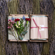 Gift Wrapped Flower Box Card
