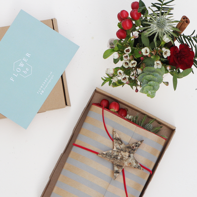 Unique and Festive Fresh Flower Box Card