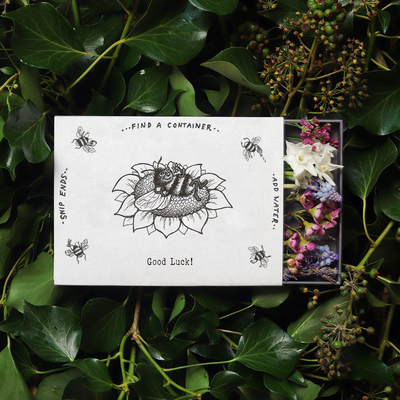 'Good Luck' Illustrated Sleeved Botanical Posy