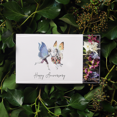 'Happy Anniversary' Illustrated Sleeved Botanical Posy
