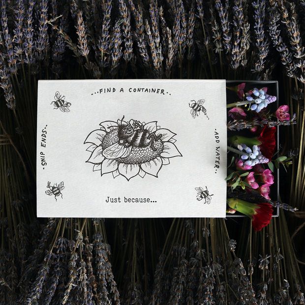 'Just Because' Illustrated Sleeved Botanical Posy