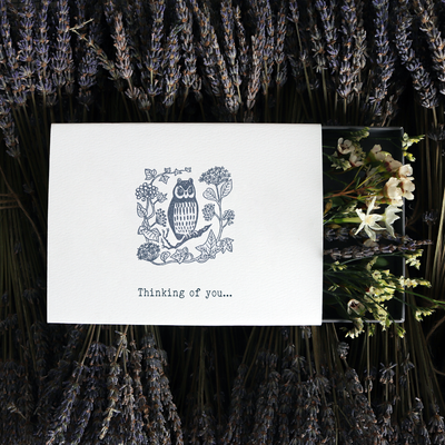 'Thinking of You' Illustrated Sleeved Botanical Posy