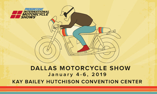 Icicles at Dallas Progressive International Motorcycle Show Jan. 4 – 6, 2019