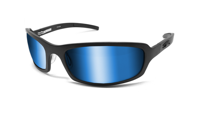 X Frame - Matte Black/Blue - ICICLES - The original aluminum sunglass company - 1