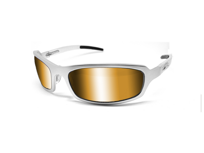 X Frame - Matte Silver/Fire - ICICLES - The original aluminum sunglass company - 1