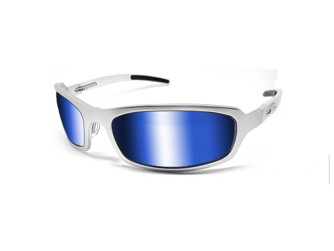 X Frame - Matte Silver/Blue - ICICLES - The original aluminum sunglass company - 1